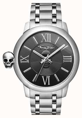 Thomas Sabo Mens Rebel With Karma Stainless Steel Skull Watch WA0304-201-203