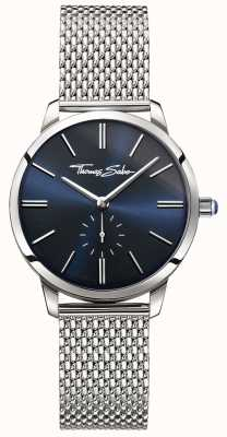 Thomas Sabo Womens Glam Spirit Stainless Steel Mesh Bracelet Blue Dial WA0301-201-209-33