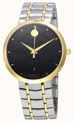 Movado Mens 1881 Automatic Two Tone Black Dial 0606916