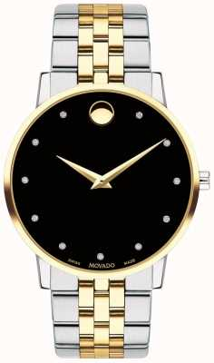 Movado Mens Museum Diamond Set Dial Two Tone Bracelet 0607202