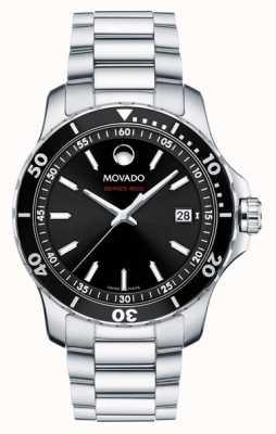 Movado Mens Series 800 Stainless Steel Black Dial 2600135