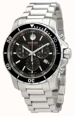 Movado Mens Series 800 Chronograph Stainless Steel Black Dial 2600142