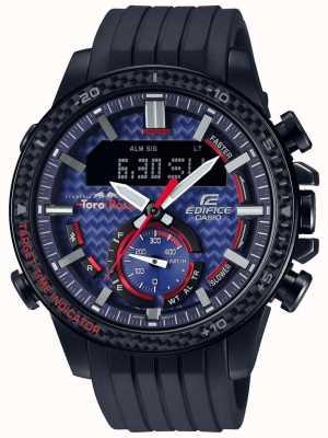 Casio Edifice Toro Rosso Bluetooth Lap Timer Black Rubber Strap ECB-800TR-2AER