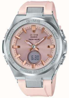 Casio G-MS Baby-G Tough Solar Pink Rubber Strap MSG-S200-4AER