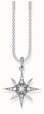 Thomas Sabo Sterling Silver Necklace With Blackened/White Zirconia KE1825-643-14-L45V