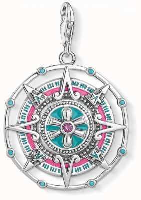 Thomas Sabo Mayan Calendar Sterling Silver Charm Pendant Y0049-340-7