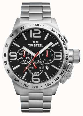 TW Steel Mens Canteen 50mm Chronograph Stainless Steel CB8