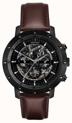 Weird Ape Icarus 3 Dial All Black/brown Leather Strap WA02-005702