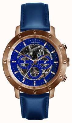 Weird Ape Icarus 3 Dial Blue Rose Gold /indigo Blue Leather Strap WA02-005730
