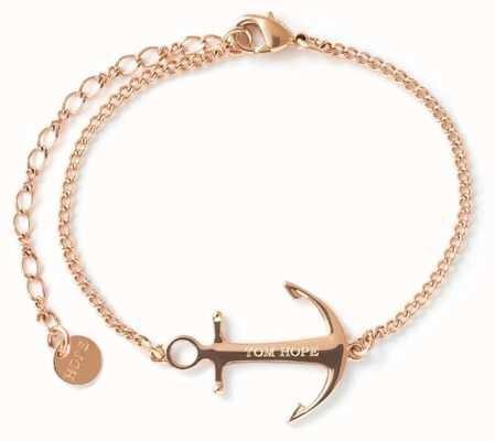 Tom Hope Saint Chain Rose Gold PVD Stainless Steel Bracelet TM0332