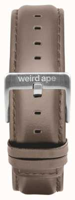 Weird Ape Hazelnut Leather 20mm Strap Silver Buckle ST01-000101