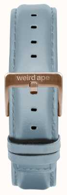 Weird Ape Powder Blue Leather 16mm Strap Rose Gold Buckle ST01-000029