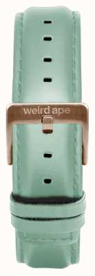 Weird Ape Mint Green Leather 16mm Strap Rose Gold Buckle ST01-000042
