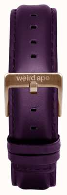 Weird Ape Purpleleather 16mm Strap Rose Gold Buckle ST01-000036