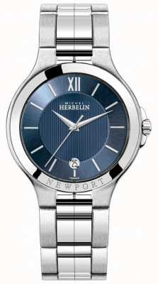 Michel Herbelin Mens Newport Watch With A Blue Dial 12298/B15