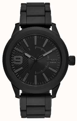Diesel Mens All Black Rasp Watch Metal Bracelet DZ1873