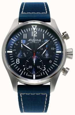 Alpina Mens Startimer Pilot Chronograph Quartz Blue AL-371NN4S6