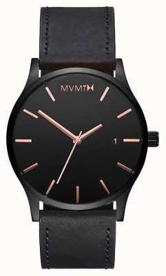 MVMT Mens Classic Leather MM01-BBRGL