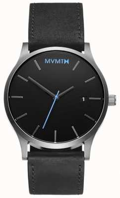 MVMT Mens Classic Black Silver MM01-BSL