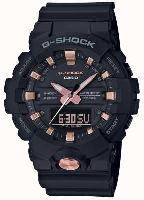 Casio G-Shock Analogue Digital Multi-Function Matt Black Rose Gold GA-810B-1A4ER