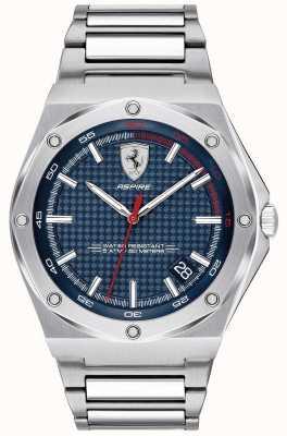 Scuderia Ferrari Mens Aspire Stainless Steel Blue Dial Date Display 0830530