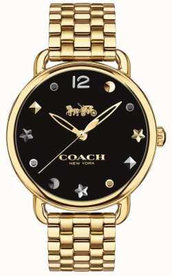 Coach Womens Delancey Watch Gold Tone Bracelet 14502813