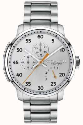 Coach Mens Bleecker Multifunction Watch Silver 14602358
