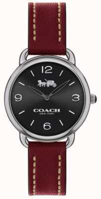 Coach Womens Delancey Slim Watch Red Leather Strap 14502792