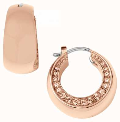 DKNY Ladies Rose Gold PVD Plated Earrings NY1795040