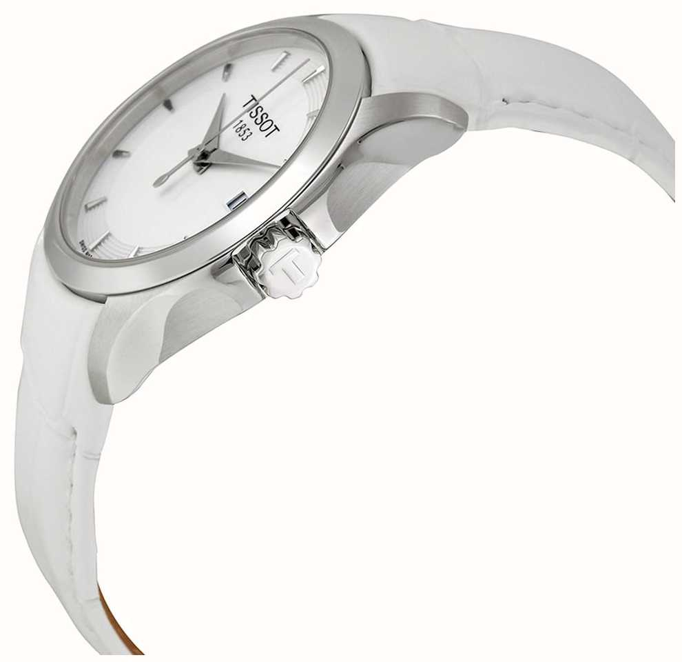 Tissot Womens Couturier White Leather Dial T0352101601100 T Race Ladies T0482171701700 First Class Watches Aus