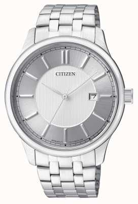 Citizen Mens Quartz Stainless Steel Minimal Design Date Display BI1050-56A
