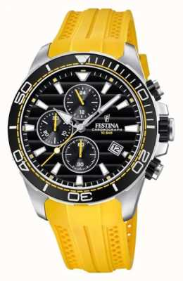 Festina Tour Of Britain 2018 Chrono Yellow Rubber Strap F20370/2
