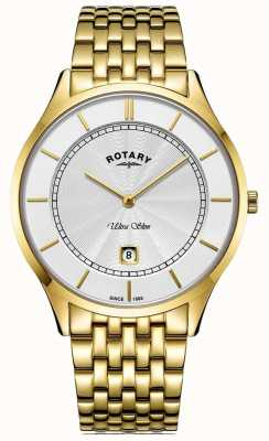 Rotary Mens Ultra Slim Gold Plated Bracelet GB08413/02