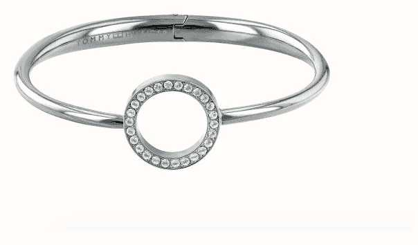 Tommy Hilfiger Stone Set Open Circle Steel Bangle 2780064