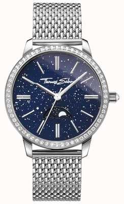 Thomas Sabo Women's Glam And Soul Moonphase Watch Silver Mesh Bracelet WA0326-201-209-33