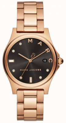 Marc Jacobs Womens Henry Watch Rose Gold Tone MJ3600