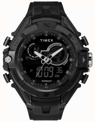 Timex Mens 47mm Black Case Black Ring Black Strap TW5M23300