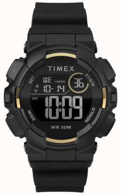 Timex Womens 44mm Black Case Black Strap TW5M23600