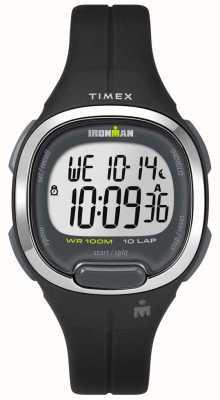 Timex Womens Ironman Essentials 10 Black And Chrome TW5M19600