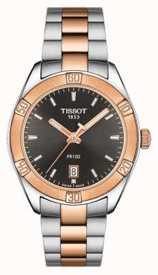 Tissot Womens PR 100 Sport Chic 36mm Two Tone Black Dial T1019102206100