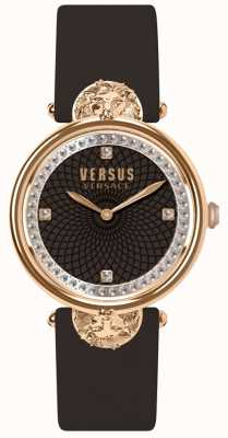 Versus Versace Womens Victoria Harbour Burgundy Leather Strap SP33150018