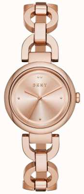 DKNY Womens Eastside Rose Gold PVD Plated NY2769