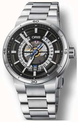 Oris Williams TT1 Engine Date Stainless Steel Bracelet Skeleton 01 733 7752 4124-07 8 24 08