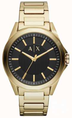 Armani Exchange Mens Dress Watch Gold Pvd Plated AX2619