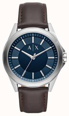 Armani Exchange Armani Exchange Mens Dress Watch Brown Strap AX2622