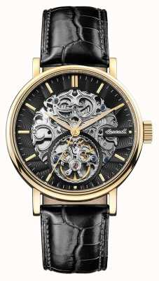 Ingersoll Mens The Charles Automatic Black Leather Strap I05802