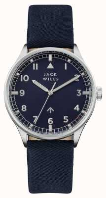 Jack Wills Mens Camperdown Navy Dial Navy Leather Strap JW001BLSS