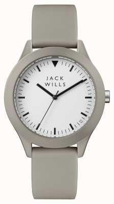 Jack Wills Mens Union White Dial Grey Silicone Strap JW009WHGY