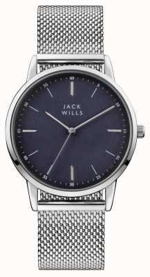 Jack Wills Mens Fortescue Blue Dial Stainless Steel Mesh Bracelet JW011SSBL