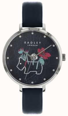 Radley Ladies Floral And Dog Print Black Watch RY2681